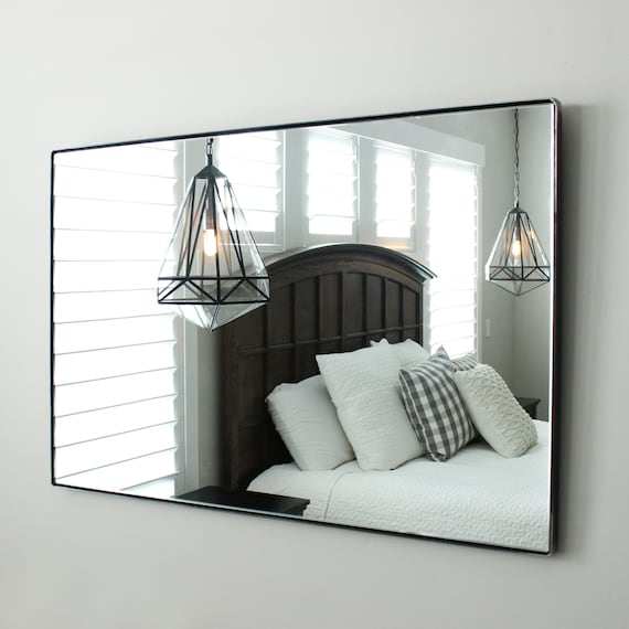Large Modern Wall Floating Mirror Bathroom Vanity Decorative Etsy