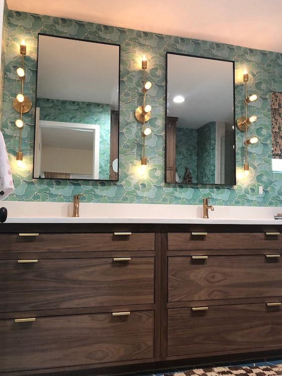 Large Modern Wall Floating Mirror, Large Rectangular Modern Mirrors