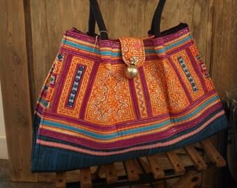 Create handmade Hmong ethnic bag 40 x 25 x 12 cm