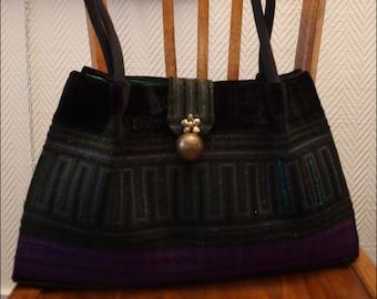 Create handmade Hmong ethnic bag 35 x 21 x 10 cm