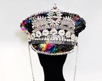 The Unicorn LED festival captains hat