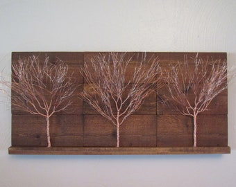 Copper Art, Copper Wall Art, Tree Art, Tree Wall Art, Rustic Wall Hanging,  Nature Art, Nature Wall Art, Rustic Wood Art, Rustic Home Decor
