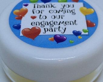 Engagement Lip Balm  Party Favours ,  choose your flavour