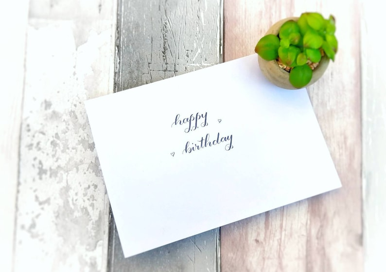 Calligraphy Happy Birthday Card A5 Greeting Celebration