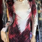 Original Design, Cat/Ladybug Animal Acid Dyed Unitard/Bodysuit - Medium