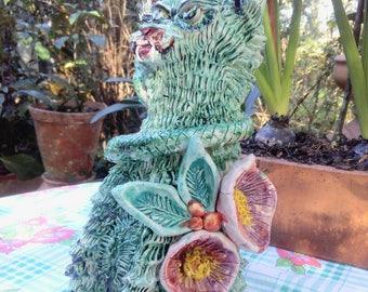 Ceramic green Cat