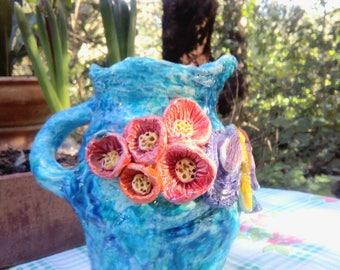 Ceramic flower Jar