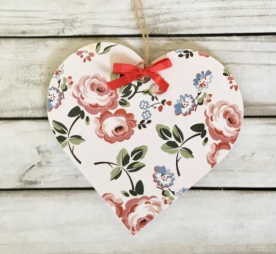 White Rose Flower Handcrafted Hanger