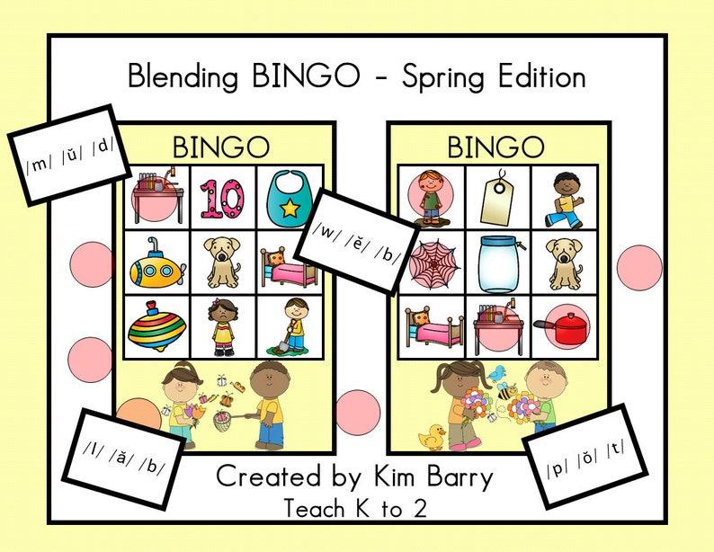 Blending BINGO/Spring Edition/Phonics/Blending/Letter  Sounds/Kindergarten/Digital Download/Printable/Language Arts Resource by  Teach K to 2