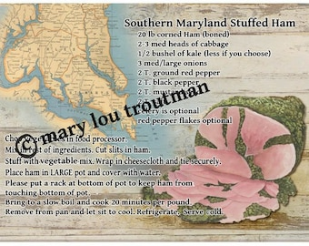Southern Maryland Stuffed Ham Recipe Cutting Board