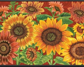 colorful sunflower 1629 mat