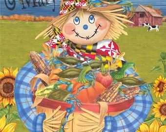 maryland scarecrow garden flag