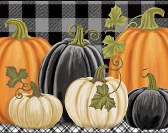 checkered pumpkins 1359 mat