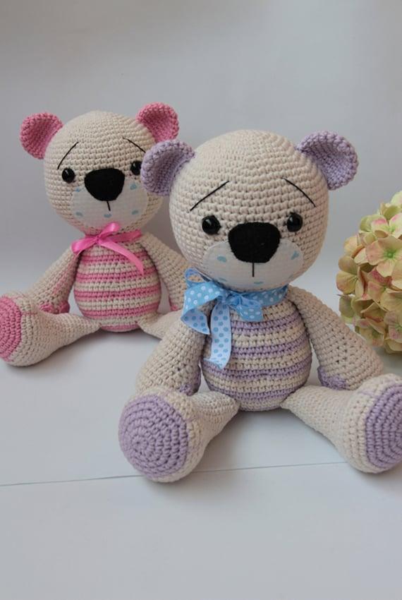 Crochet orso bambino all'uncinetto giocattoli Set di orsi Amigurumi orso Crochet animale Orso giocattolo Bambino Crochet giocattolo Crochet orso