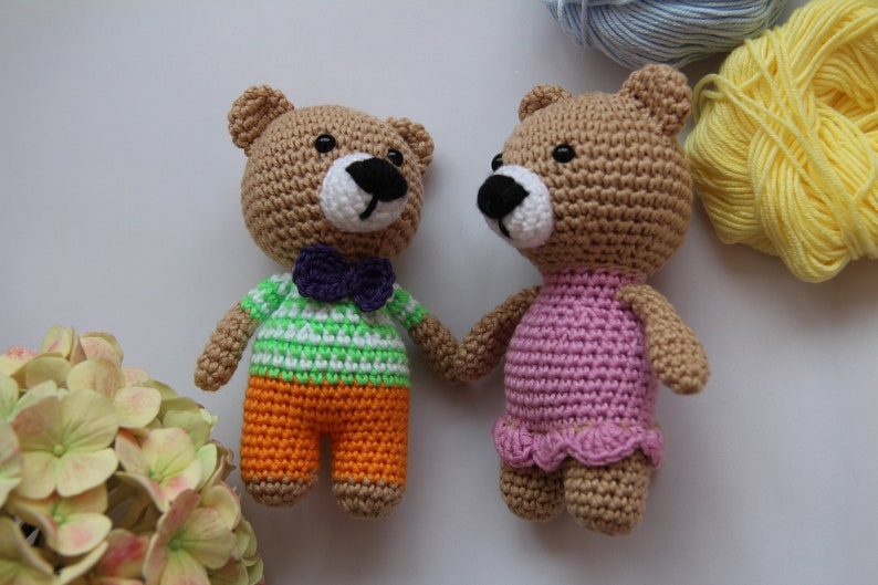 Free Amigurumi Bear Toy Softies Crochet Patterns | Crochet teddy ... | 529x794
