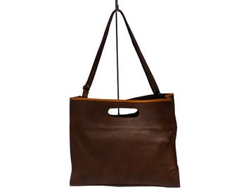 LEATHER TOTE HANDBAG - Clutch Bag