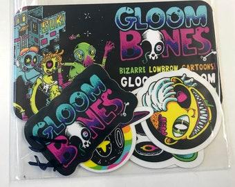 Gloombones elements sticker pack
