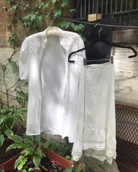 Edwardian petticoat slip skirt