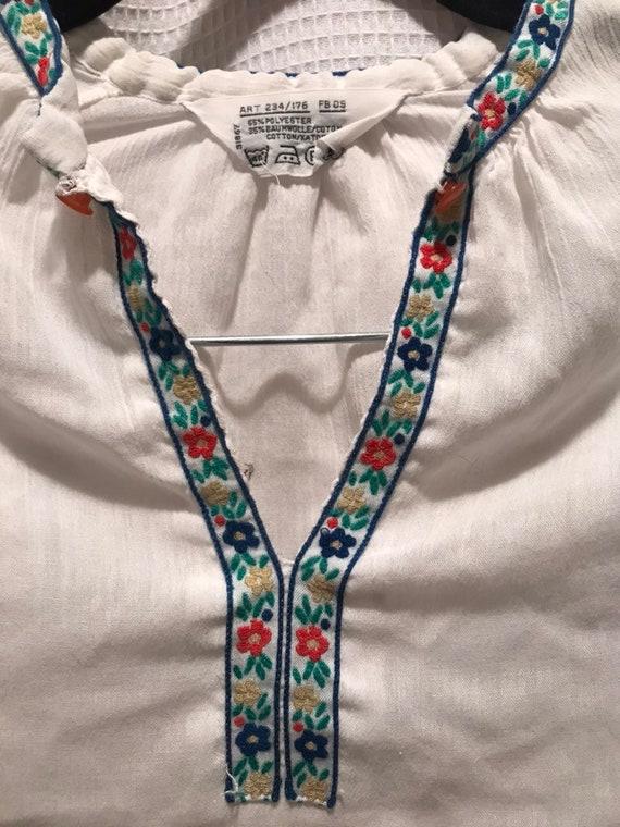 70s sheer peasant blouse