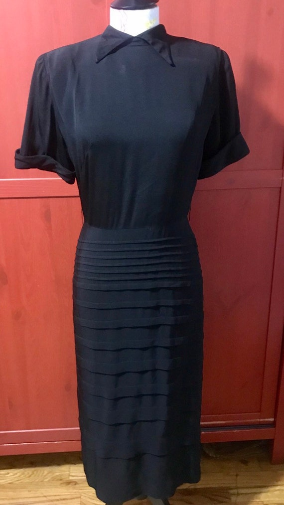 1940s little black dress - image 7