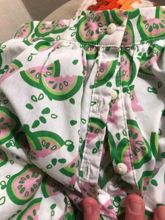 70s watermelon novelty print skirt - image 4