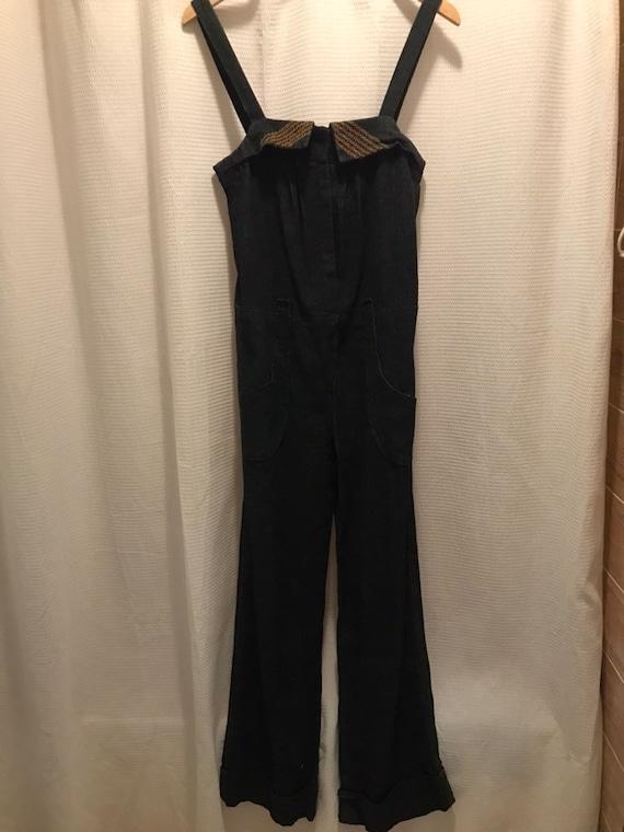 1970s handmade overalls jumpsuit
