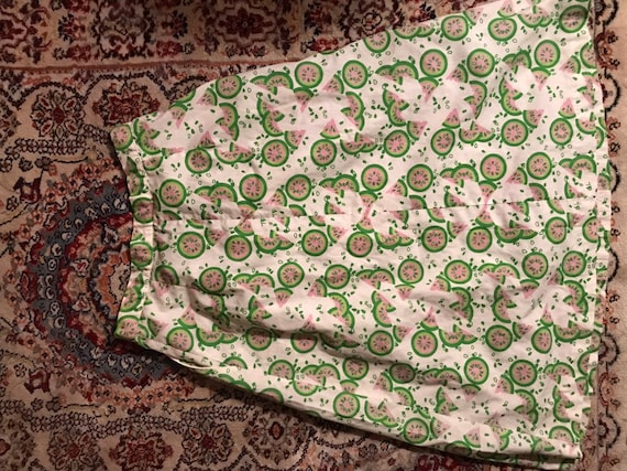 70s watermelon novelty print skirt - image 7