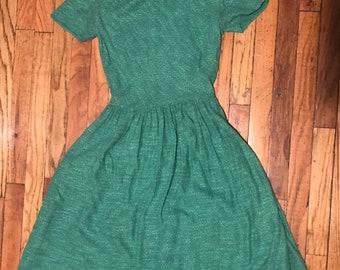 50s kelly Green Day dress