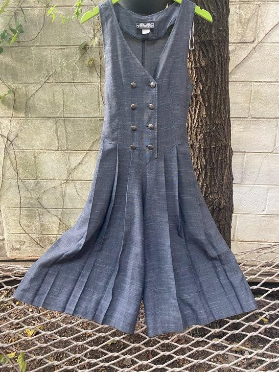 Pleated culotte jumpsuit