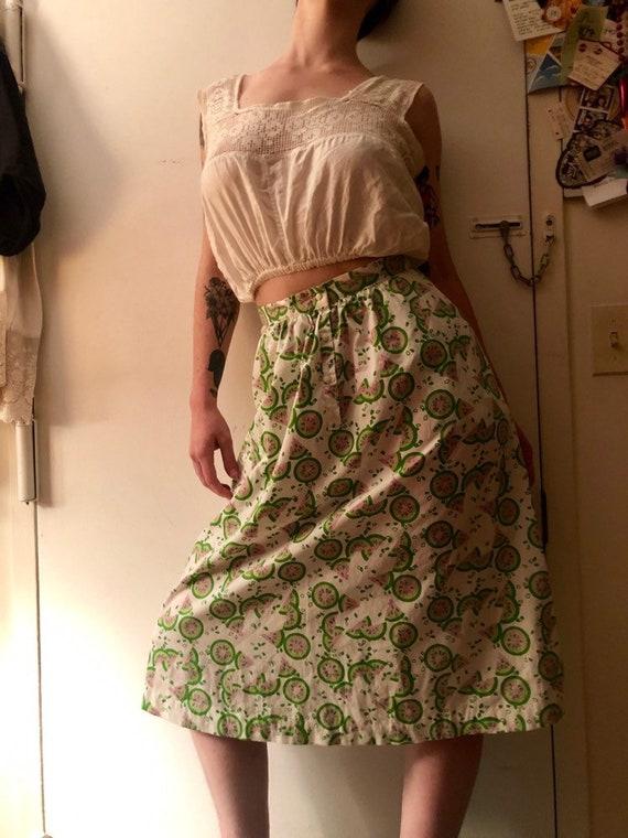 70s watermelon novelty print skirt - image 3