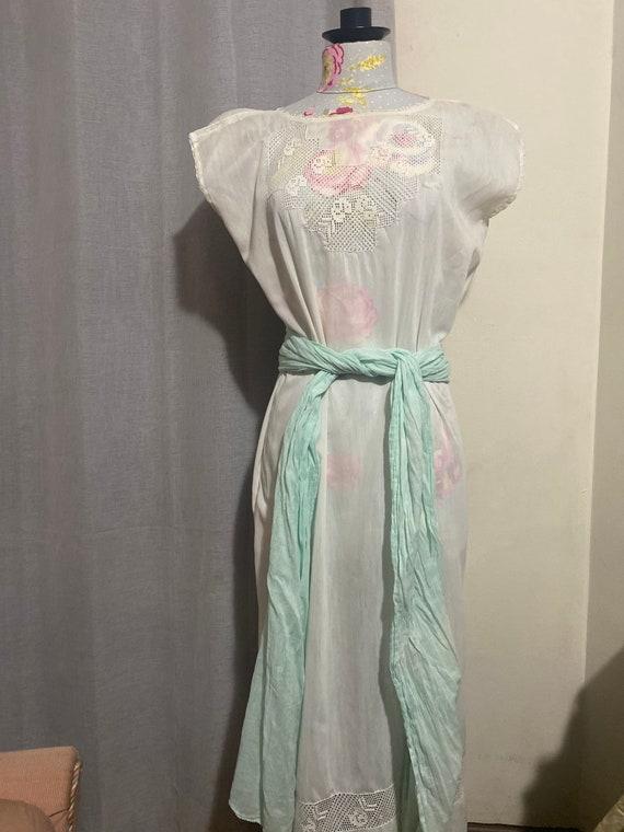 Antique white cotton nightgown