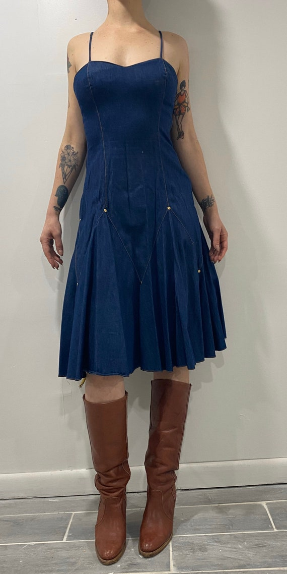 Denim Frederick's of Hollywood dress