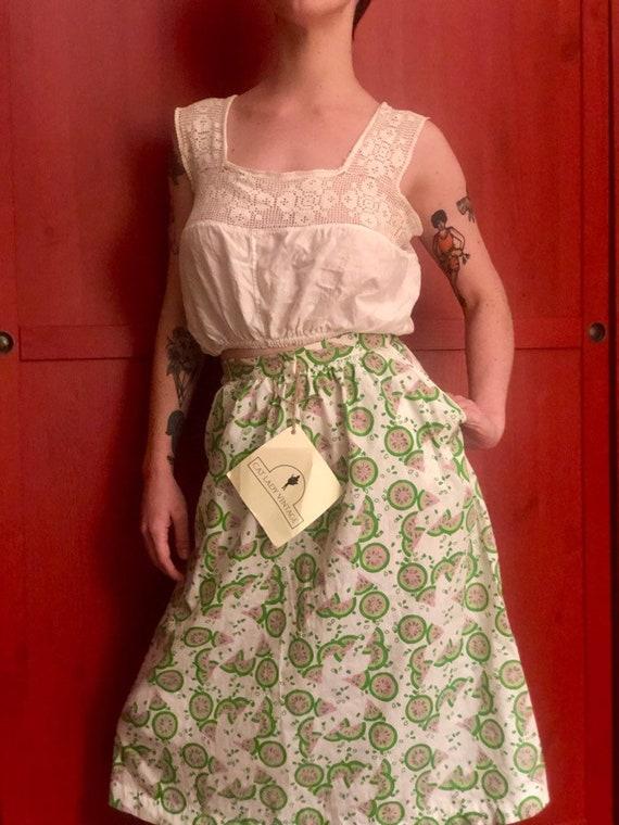 70s watermelon novelty print skirt - image 5