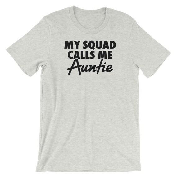 Mon équipe m'appelle m'appelle équipe tante chemise | Tante Tee | T-shirt unisexe | Ma tante d'entraînement chemise | Tante T-shirt | Nouvelle chemise de tante | Tee Shirt cadeau soeur 668015