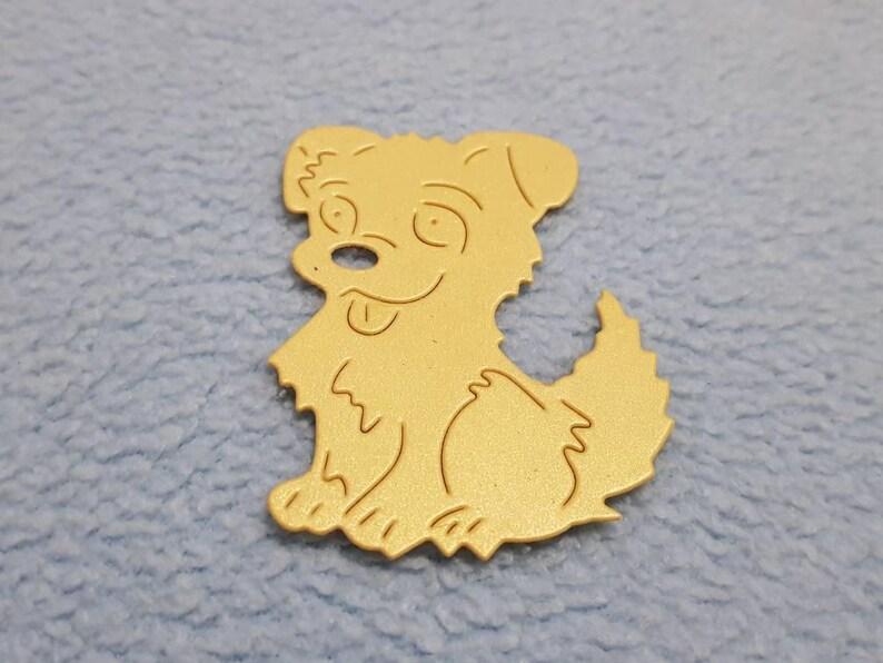 Scrapbook dog,new year 2018,paper decoration,personalized gift,new year symbolic,2018 symbolic dog,yellow dog,2018 yellow dog,yellow dog