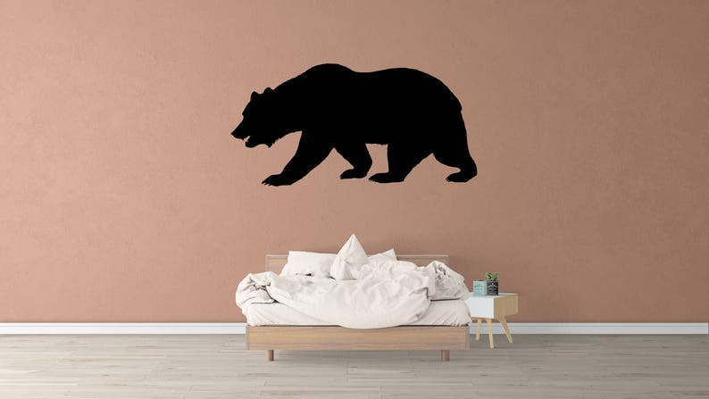 Child/'s Room Decor Bear Forest Animal Stickers Bear Forest Animal Wall Decal Bedroom Decor