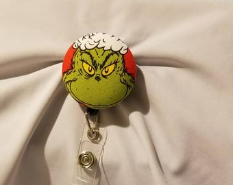 The Grinch badge holder