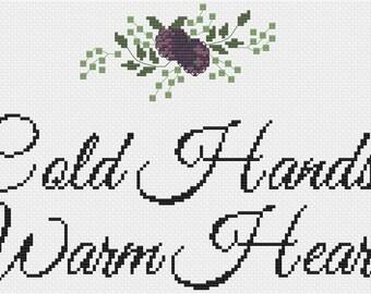 Cold Hands Warm Heart Cross Stitch Pattern