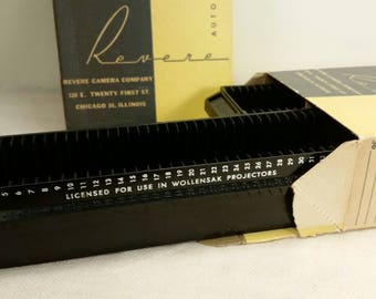 REVERE SLIDE TRAYS Two Original Boxes containing Two Slide Trays each! Excellent Condition!