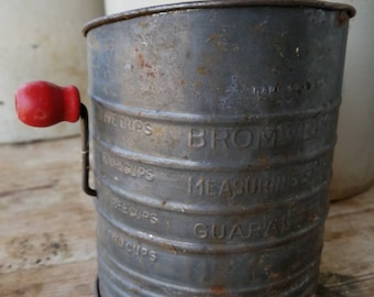 Bromwell's 1930's Flour Sifter Farmhouse Style Kitchen Decor