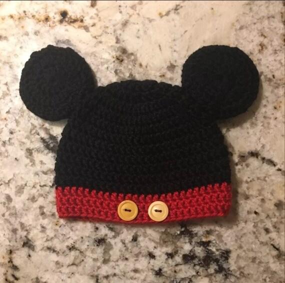 Crochet Mickey Mouse hat  aa20568f1d6