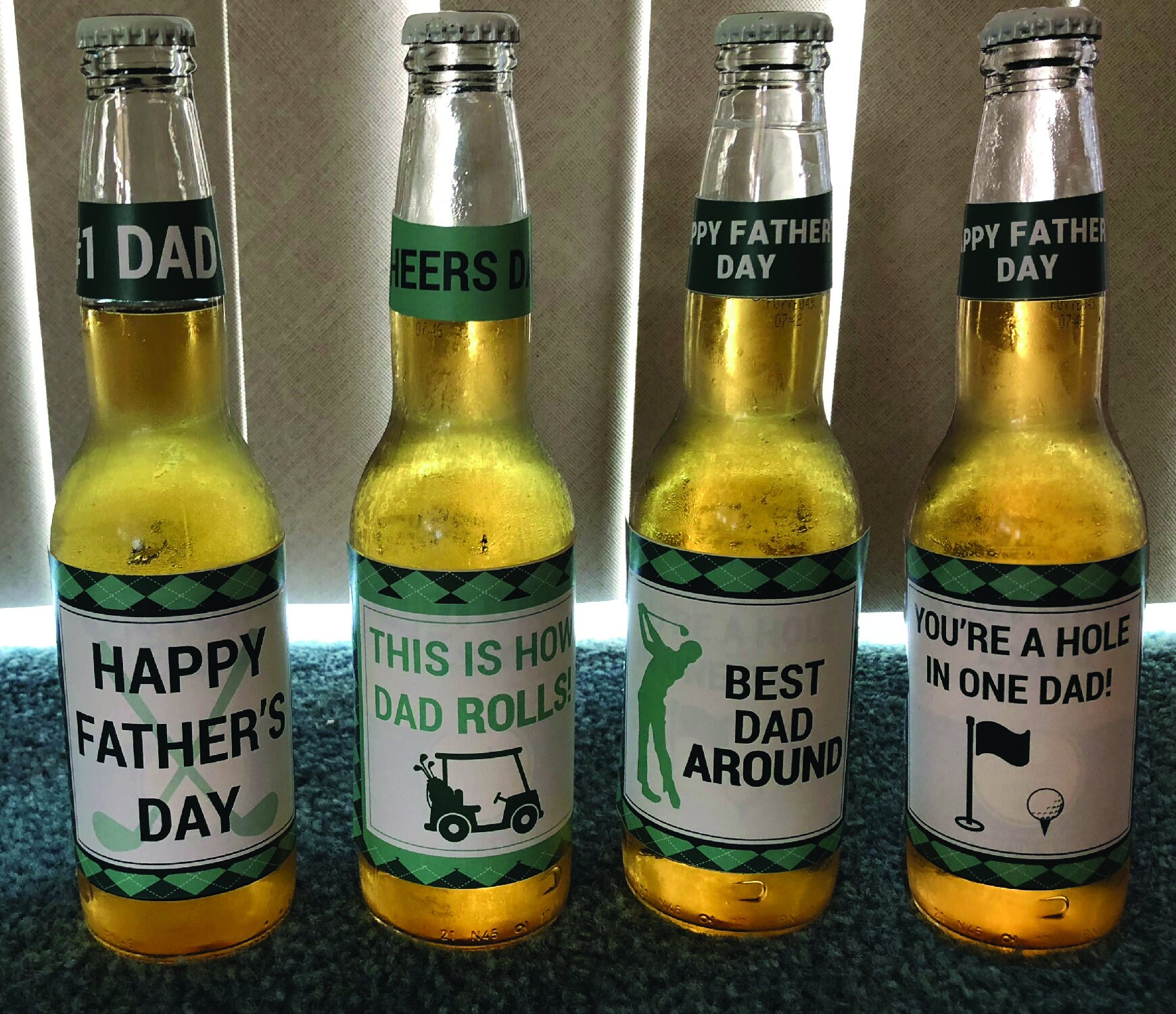 Fathers Day Beer Labels Golf Dad Best Dad Beer Etsy