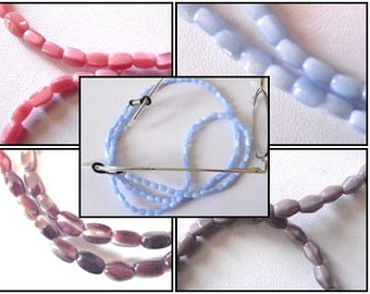 Cordon à Lunettes perles de verre marron brun ou rose ou bleu ou parme    Fait Main en France 1e2dc44c0b4e