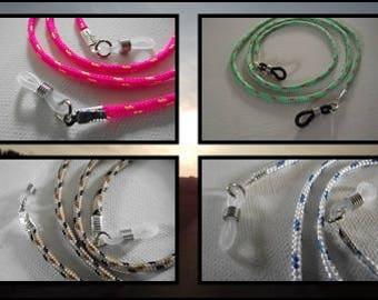 Cordon attache Lunettes drisse rose ou vert ou bleu ou marron polyester  cordage marine f22b679ed038