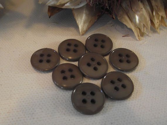 4 trous 4 BOUTONS  GRIS 22 mm 2,2 cm Gray Button sewing neuf lot couture