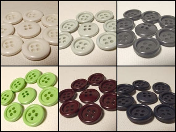 "5 x /""Handmade/"" Boutons en Bois Couture Craft Label Tag 15 mm Rond Multi-Trou."