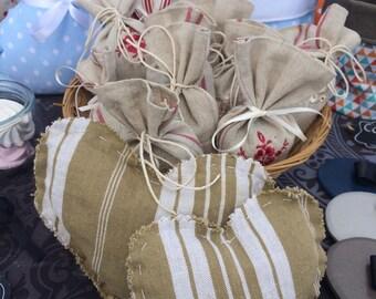 Vintage fabric heart