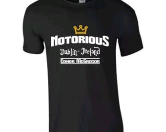 d24bbd64 Adults New Basic Graphic conor mcgregor/ boxing/ ufc/ funny short sleeve  black t-shirt/ tee