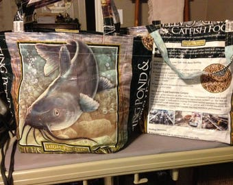 Fish Feed bag Tote