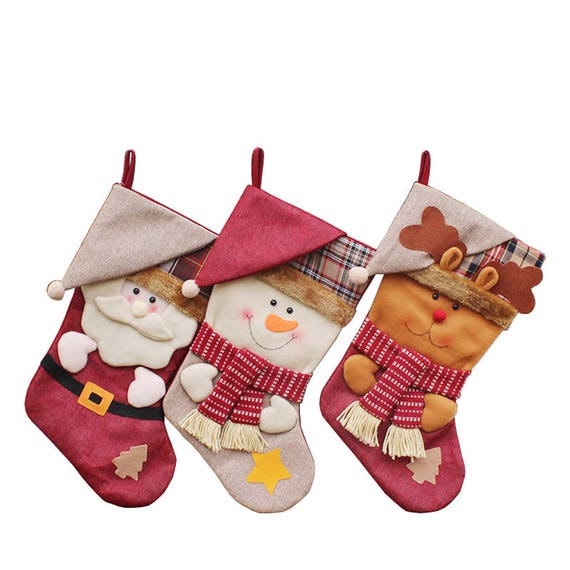 6668d3a6e Christmas Stocking Decor Party Decorations Santa Claus